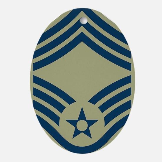 USAF-CMSgt-Olive.gif Oval Ornament