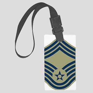 USAF-CMSgt-Olive Large Luggage Tag
