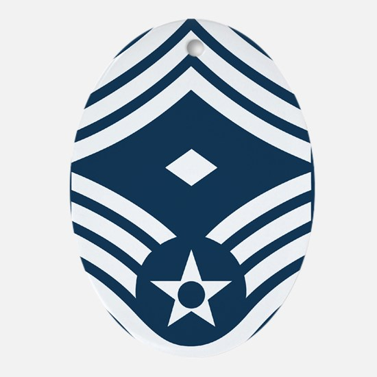USAF-1Sgt-E9-Greetings.gif Oval Ornament