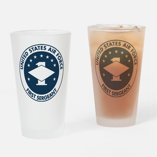 USAF-First-Sergeant-Logo-Bonnie.gif Drinking Glass