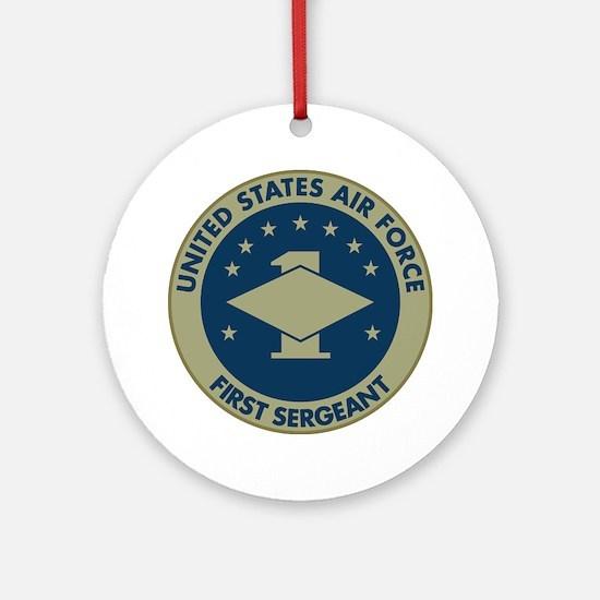 USAF-First-Sergeant-Black-Shirt Round Ornament