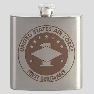 USAF-First-Sergeant-Khaki-Cap Flask