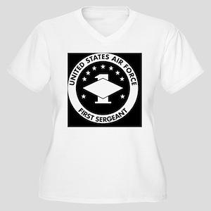USAF-First-Sergea Women's Plus Size V-Neck T-Shirt