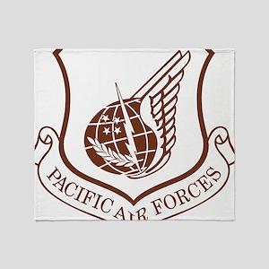 USAF-PAF-Khaki-Cap Throw Blanket