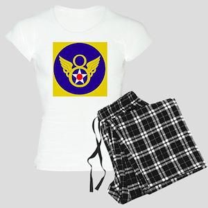 USAF-8th-AF-Clock Women's Light Pajamas