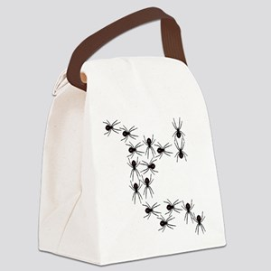 Creepy Crawly Spiders Canvas Lunch Bag