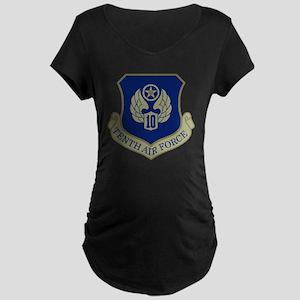 USAF-10th-AF-Black-Shirt Maternity Dark T-Shirt