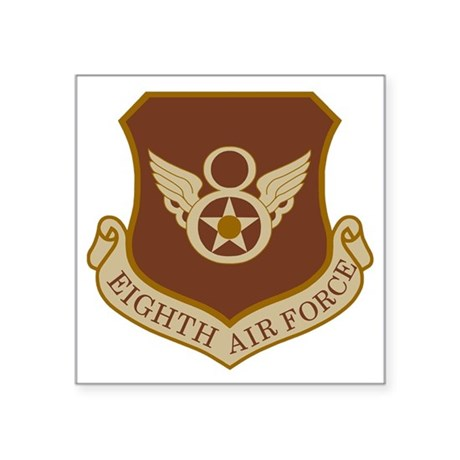 "USAF-8th-AF-Brown-Shirt Square Sticker 3"" x 3"""