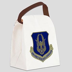 USAFR-Black-Shirt Canvas Lunch Bag