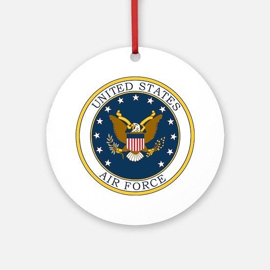 USAF-Patch-3X-DUPLICATE.gif Round Ornament