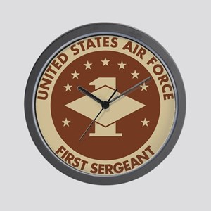 Delete-From-Here-USAF-First-Sergeant-Br Wall Clock
