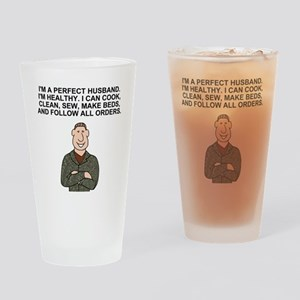 Army-Humor-Perfect-Husband Drinking Glass