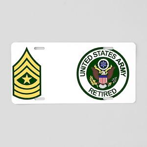Army-Retired-SGM-Mug Aluminum License Plate