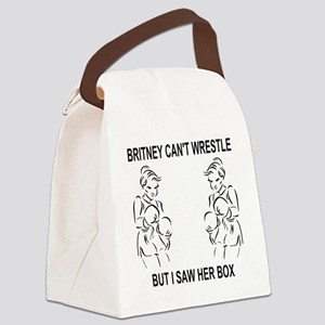 Humor-Britney-Cant-Wrestle-1A Canvas Lunch Bag