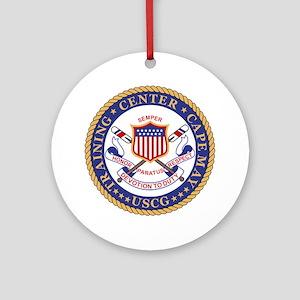 USCG-TraCen-Cape-May-Bonnie Round Ornament