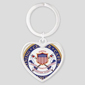 USCG-TraCen-Cape-May-Bonnie Heart Keychain