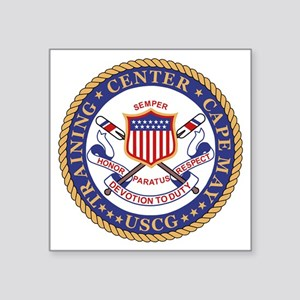 "USCG-TraCen-Cape-May-Bonnie Square Sticker 3"" x 3"""
