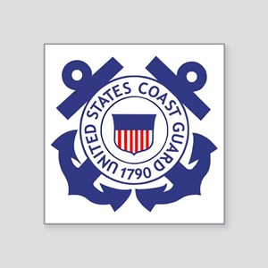 "USCG-Logo-For-TRACEN-CpMy.g Square Sticker 3"" x 3"""
