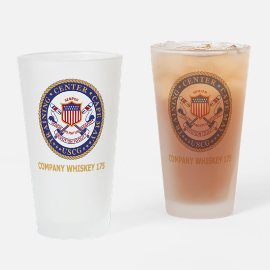 USCG-Recruit-W175-Black-Shirt Drinking Glass