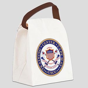 USCG-TRACEN-CpMy-Black-Shirt Canvas Lunch Bag