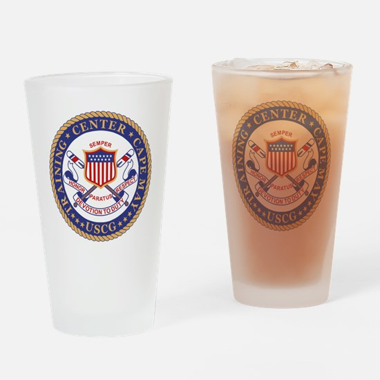 USCG-TRACEN-CpMy-Black-Shirt Drinking Glass