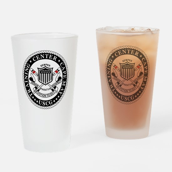 3-USCG-TraCen-Cape-May-Messenger.gi Drinking Glass
