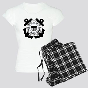USCG-Logo-2-Black Women's Light Pajamas