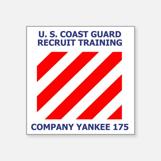 "USCG-Recruit-Co-Y175-Shirt- Square Sticker 3"" x 3"""