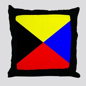 Flag-Maritime-Z Throw Pillow