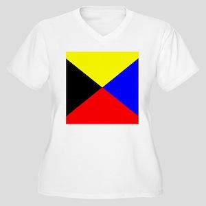 Flag-Maritime-Z.g Women's Plus Size V-Neck T-Shirt