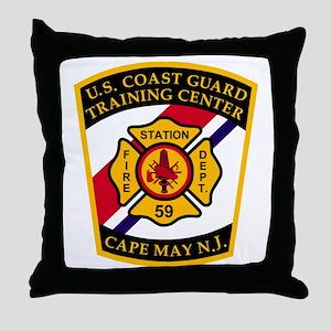 USCG-TRACEN-CpMy-Fire-Dept-Bonnie Throw Pillow