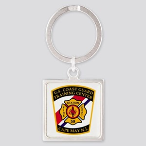 USCG-TRACEN-CpMy-Fire-Dept-Bonnie. Square Keychain