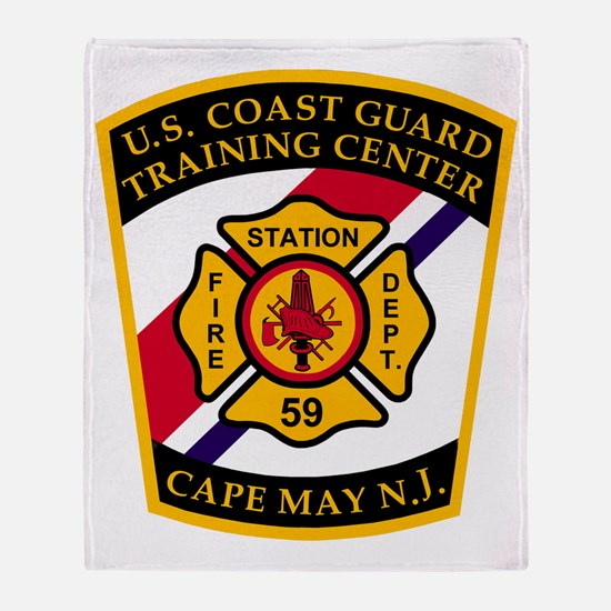 USCG-TRACEN-CpMy-Fire-Dept-Bonnie.gi Throw Blanket