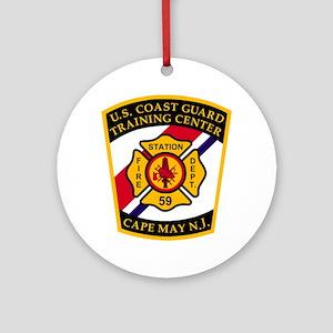 USCG-TRACEN-CpMy-Fire-Dept-Bonnie.g Round Ornament