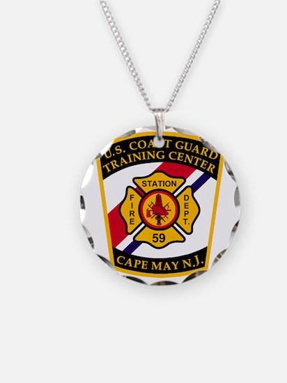 USCG-TRACEN-CpMy-Fire-Dept-B Necklace