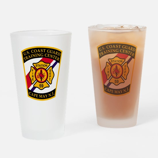 3-USCG-TRACEN-CpMy-Fire-Dept-Black- Drinking Glass