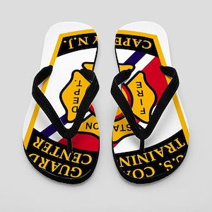 3-USCG-TRACEN-CpMy-Fire-Dept-Black-Shir Flip Flops