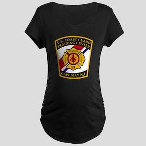 3-USCG-TRACEN-CpMy-Fire-Dep Maternity Dark T-Shirt