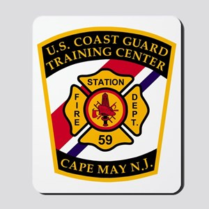 3-USCG-TRACEN-CpMy-Fire-Dept-Black-Shirt Mousepad