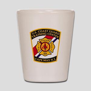 3-USCG-TRACEN-CpMy-Fire-Dept-Black-Shir Shot Glass