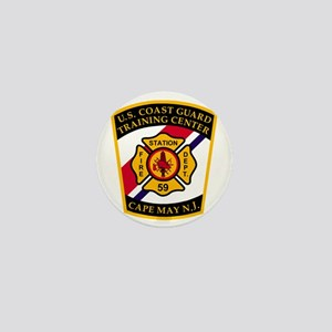 3-USCG-TRACEN-CpMy-Fire-Dept-Black-Shi Mini Button