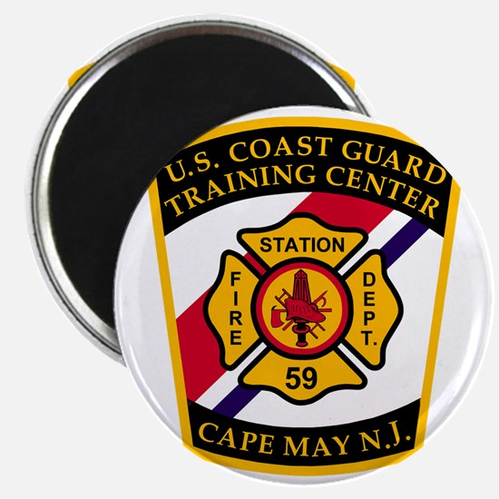 3-USCG-TRACEN-CpMy-Fire-Dept-Black-Shirt Magnet