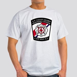 USCG-TRACEN-CpMy-Fire-Dept-Messenger Light T-Shirt