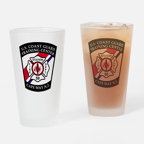 USCG-TRACEN-CpMy-Fire-Dept-Messenge Drinking Glass