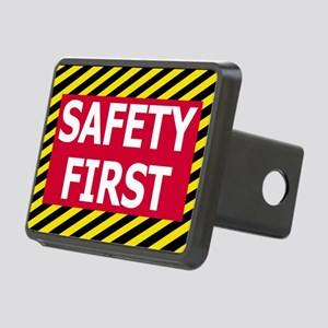 Safety-First-Sticker Rectangular Hitch Cover