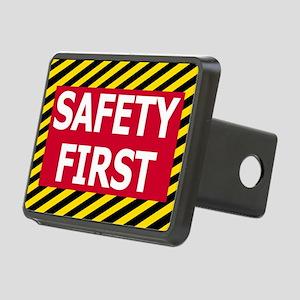 Safety-First-Sticker Rectangular Hitch Cover