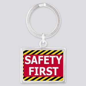 Safety-First-Sticker Landscape Keychain