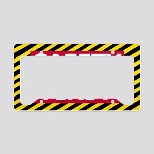 Safety-First-Sticker License Plate Holder