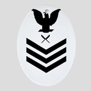 USCG-YN1-Green-Shirt Oval Ornament