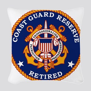 USCGR-Retired-Bonnie Woven Throw Pillow